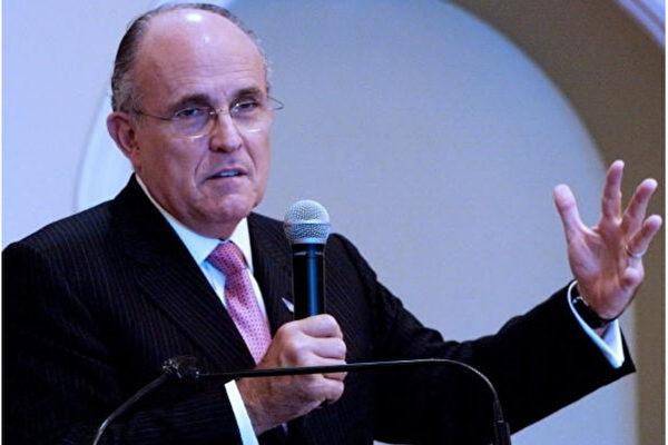 圖爲川普總統律師團隊的負責人朱利安尼(Rudy Giuliani)。(RALPHSON DAVID/AFP/Getty Images)