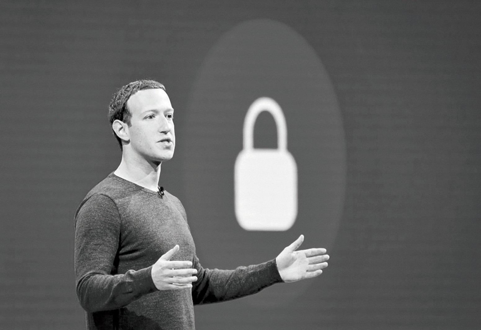 調查記者博卡哈利表示面書聘用來自極權國家員工「管制」言論。面書創始人馬克朱克伯格(Mark Zuckerberg)。(JOSH EDELSON/AFP/Getty Images)