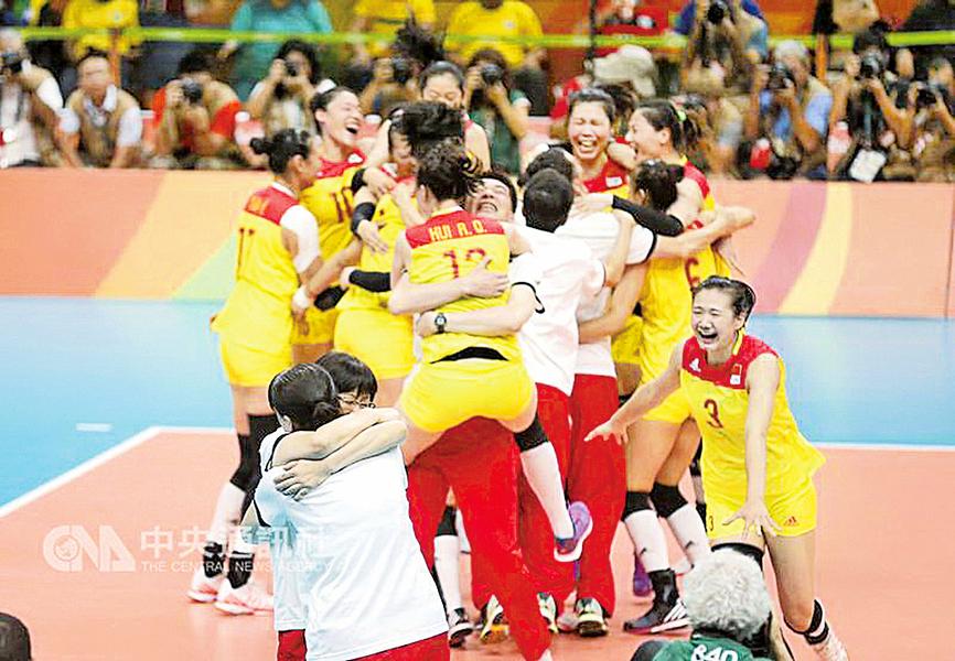 時隔12年  大陸女排再奪奧運金牌