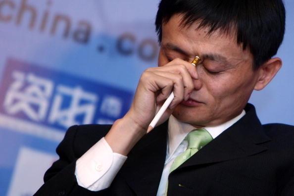阿里巴巴被立案調查,香港股市應聲下跌超過7%。馬雲被預測將下大獄,難安全著落。圖為馬雲資料圖。(Getty Image )