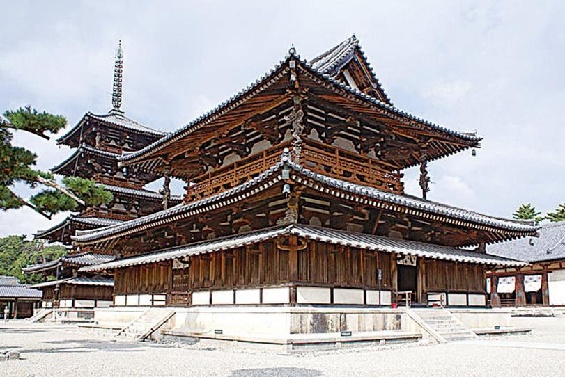 法隆寺金堂(西院伽藍)。(Wikimedia Commons)
