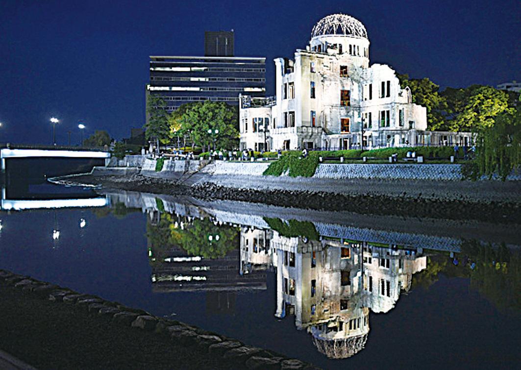 2015年到訪日本廣島的外國遊客首次突破100萬。圖為廣島原爆建築物。(Getty Images)