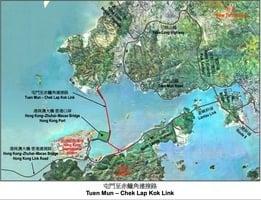 屯門至赤鱲角北面連接路今早通車 屯門南往機場只需10分鐘