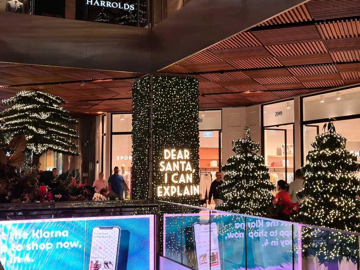 圖為示意圖,澳洲悉尼市中心購物中心的聖誕樹。(駱亞/大紀元)