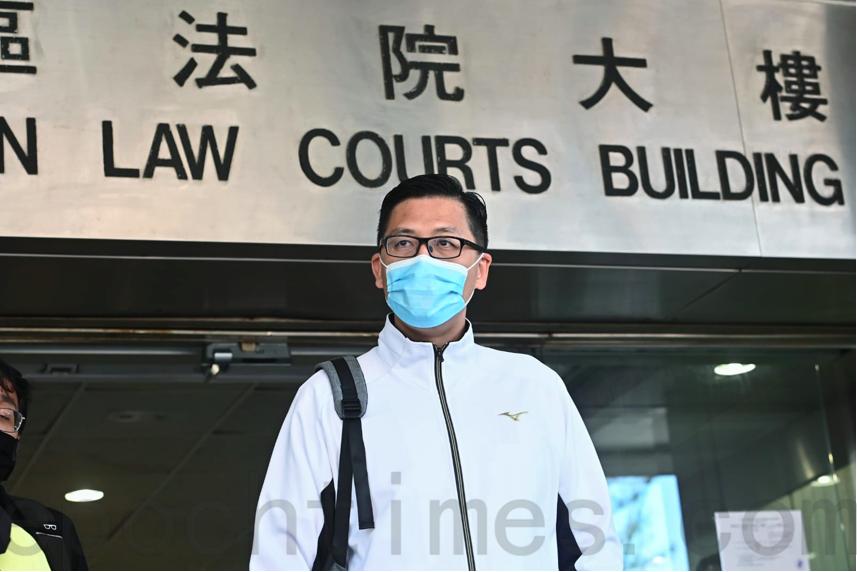 民主黨前立法會議員林卓廷被控三項披露受調查人身份罪名,違反《防止賄賂條例》,今日(28日)在東區裁判法院提堂。(宋碧龍/大紀元)