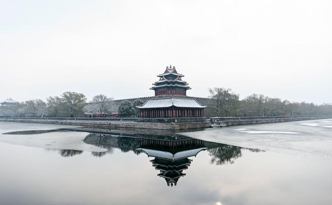 圖為2019年11月30日,北京雪後的故宮。(WANG ZHAO/AFP via Getty Images)
