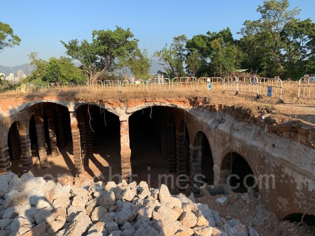 不少環保團體和學者批評當局對古蹟欠缺敏感度,目前清拆工程已暫停。(深水埗居民May姐提供)