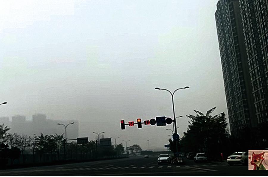 大陸多地出現重度陰霾天