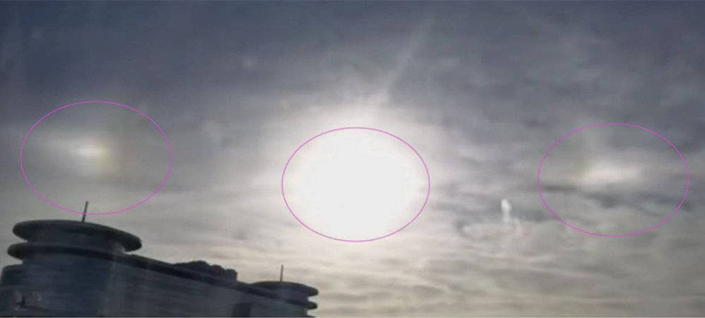 北京天空現異象  三太陽高懸二小時