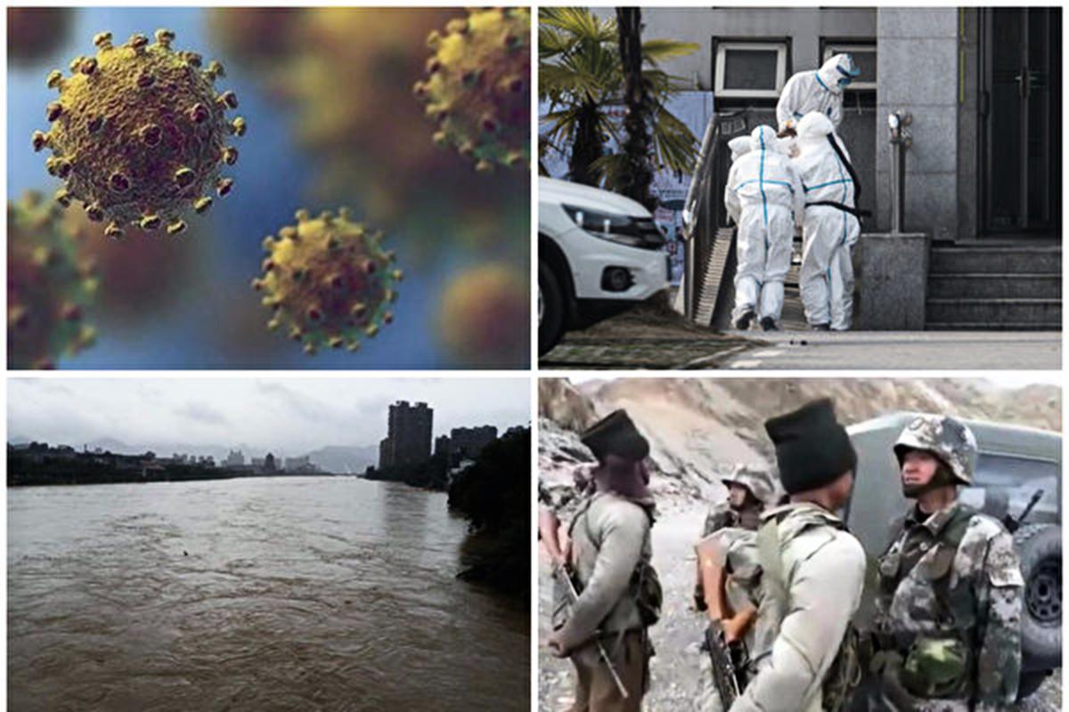 2020年即將結束,在這歷史性的一年,發生了眾多大事,其中以中共病毒擴散全球最怵目驚心。(合成圖)