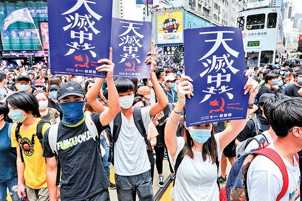 5月24日香港「反惡歌法 反國安法」遊行。(宋碧龍/大紀元)