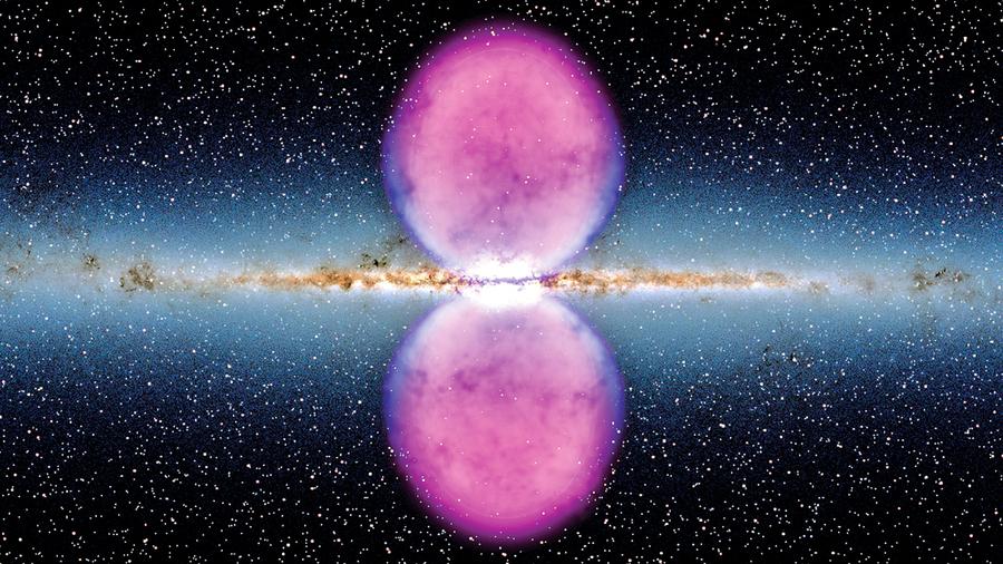 銀河系中心發現更大泡泡