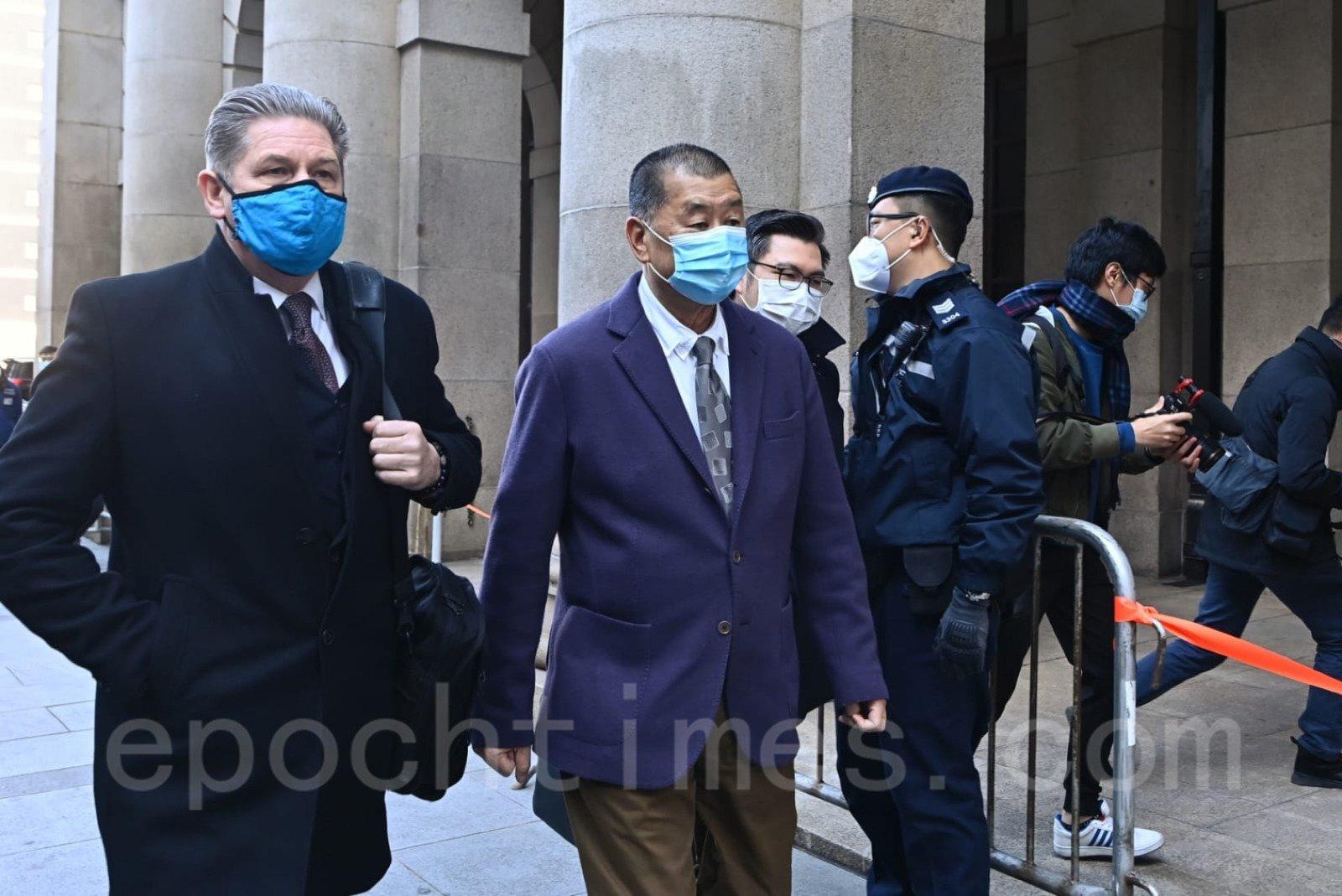 香港終審法院受理律政司上訴申請,黎智英須繼續還押直至明年2月1日終院正式聆訊。(宋碧龍/大紀元)