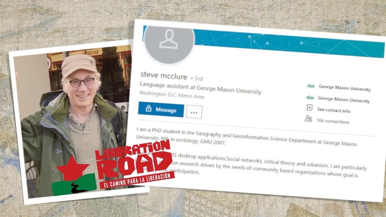 新弗吉尼亞大多數有一個解放之路的共產主義者史蒂夫·麥克盧爾(Steve McClure)。(視頻截圖)