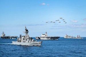 美兩驅逐艦再過台灣海峽 中共海軍南海大規模演習