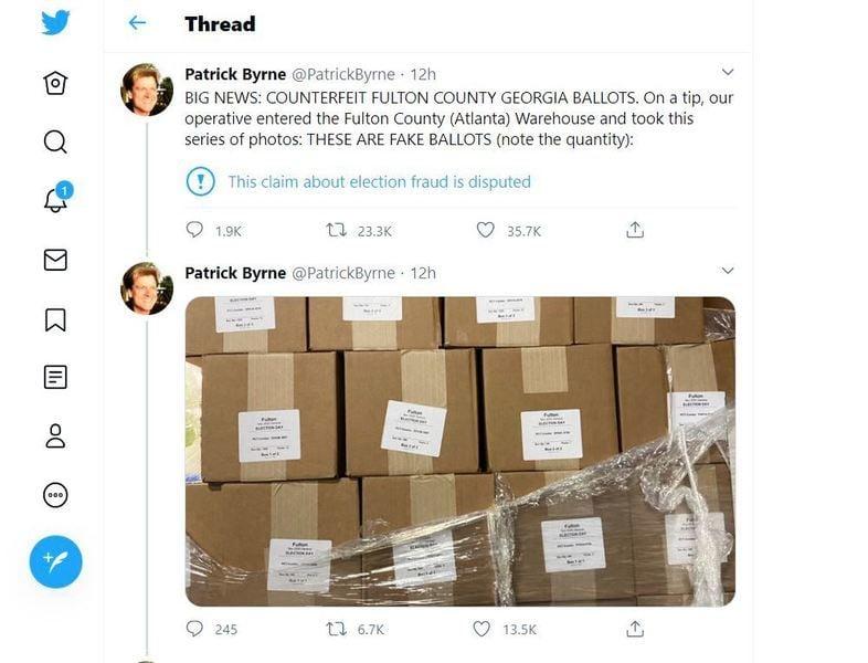 佐治亞州數以萬計假選票曝光 銷毀過程被錄像