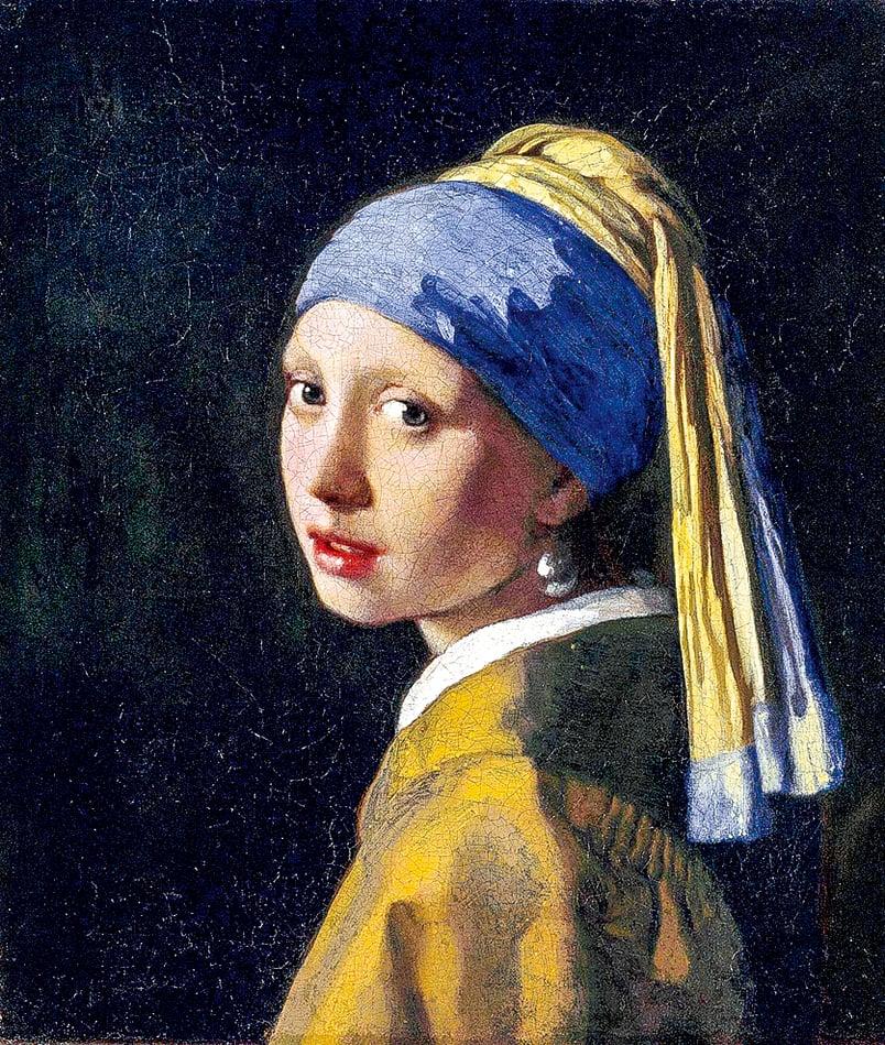 維米爾(Johannes Vermeer)1665年繪製的《戴珍珠耳環的少女》。(公有領域)
