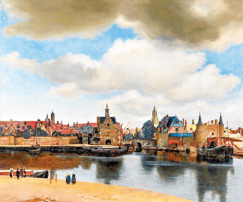 維米爾(Johannes Vermeer)1660~1661年繪製的《台夫特風景》,海牙莫瑞泰斯皇家美術館收藏。(公有領域)