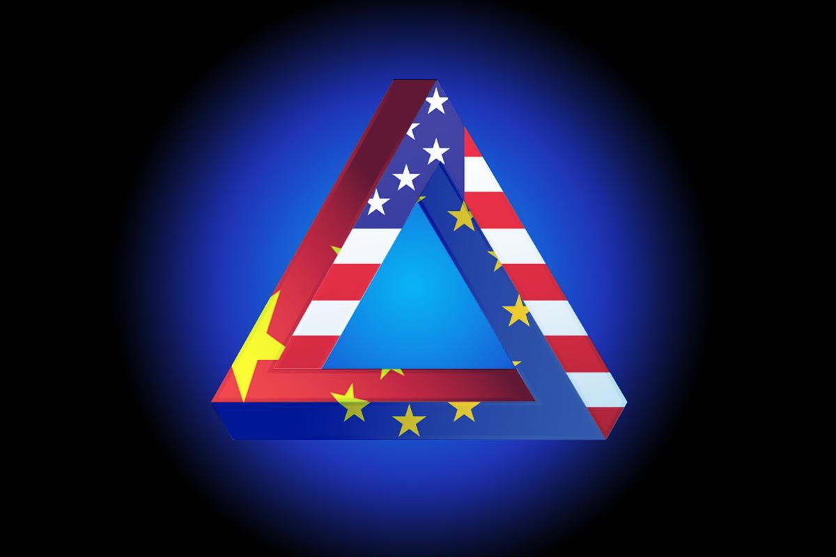 12月30日,中共最後「讓步」,簽署中歐投資協定。中共野心爭奪歐洲能源控制權;英國脫歐,美無暇東顧;歐盟左手中共右手美國,利益均霑。各有圖謀。(大紀元製圖)