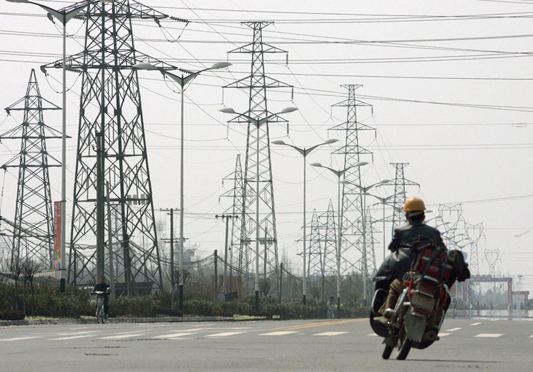 中國多地出現供電荒情況。(LIU JIN/AFP/Getty Images)