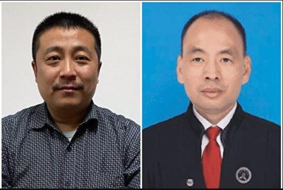 代理12名被送中港人案件的任全牛律師(左)和盧思位律師(右)面臨被吊銷律師執照。(受訪者提供/大紀元合成)