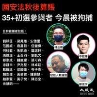 最大抓捕行動 50港民主派初選參選及主辦者被捕