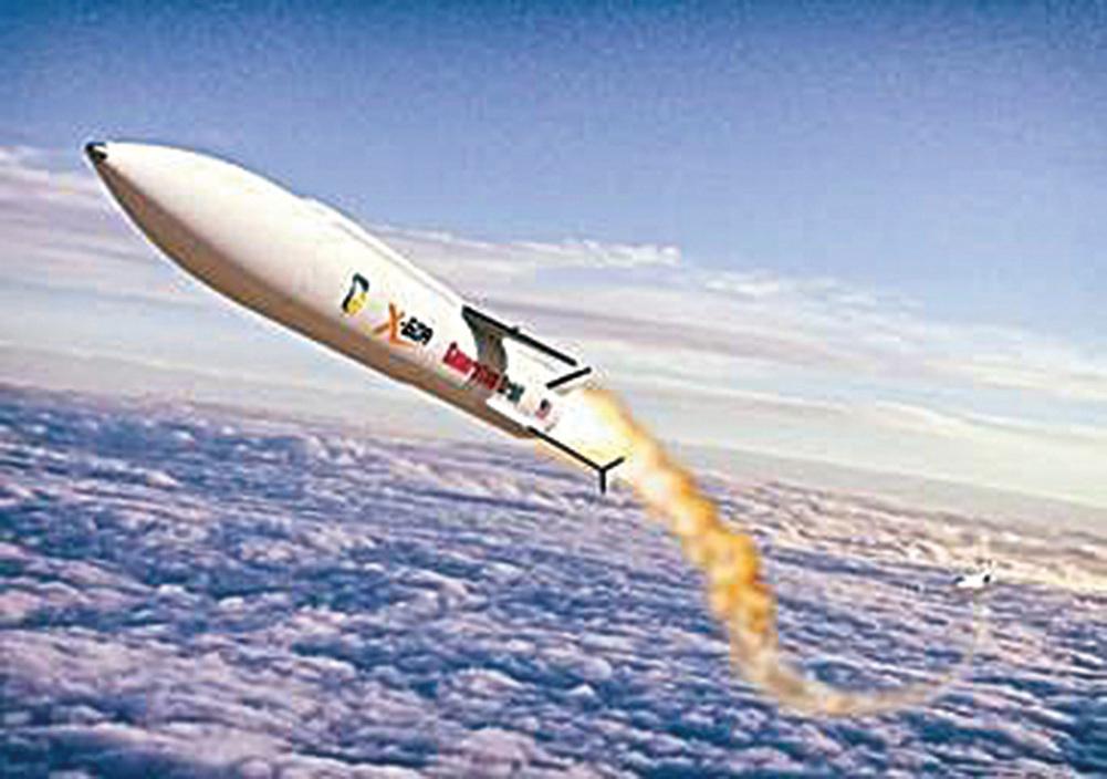 高超音速武器X-60A的效果圖。(美國空軍)