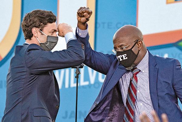 佐州兩民主黨人贏得參院競選 拜登曲線又現 選舉再引爭議