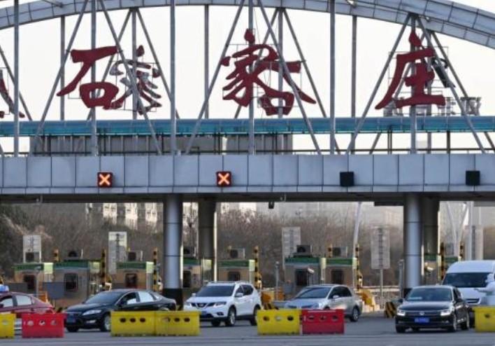 1月6日,石家莊因中共病毒疫情封城,高速公路封閉。(網絡截圖)