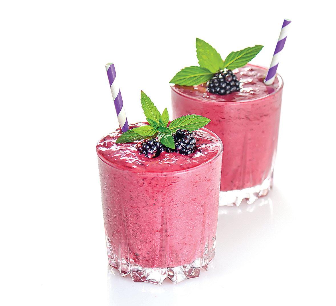冷凍的漿果可製成營養的果昔。