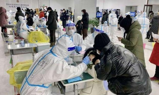 黑龍江省綏化市望奎縣百姓做核酸檢測。(網頁截圖)