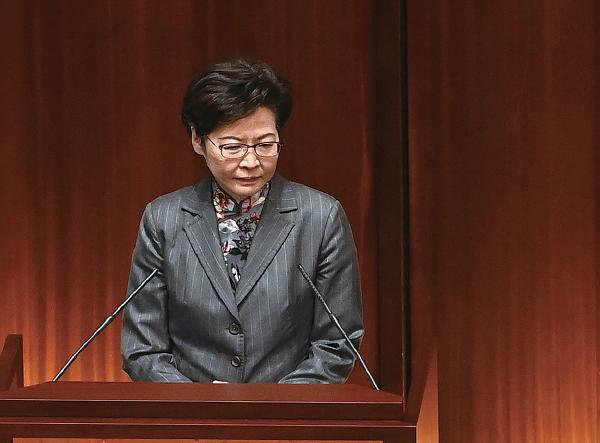 香港民意研究最新的民調顯示,特首林鄭月娥的評分及支持率淨值皆為去年10月以來新低。(大紀元資料圖片)