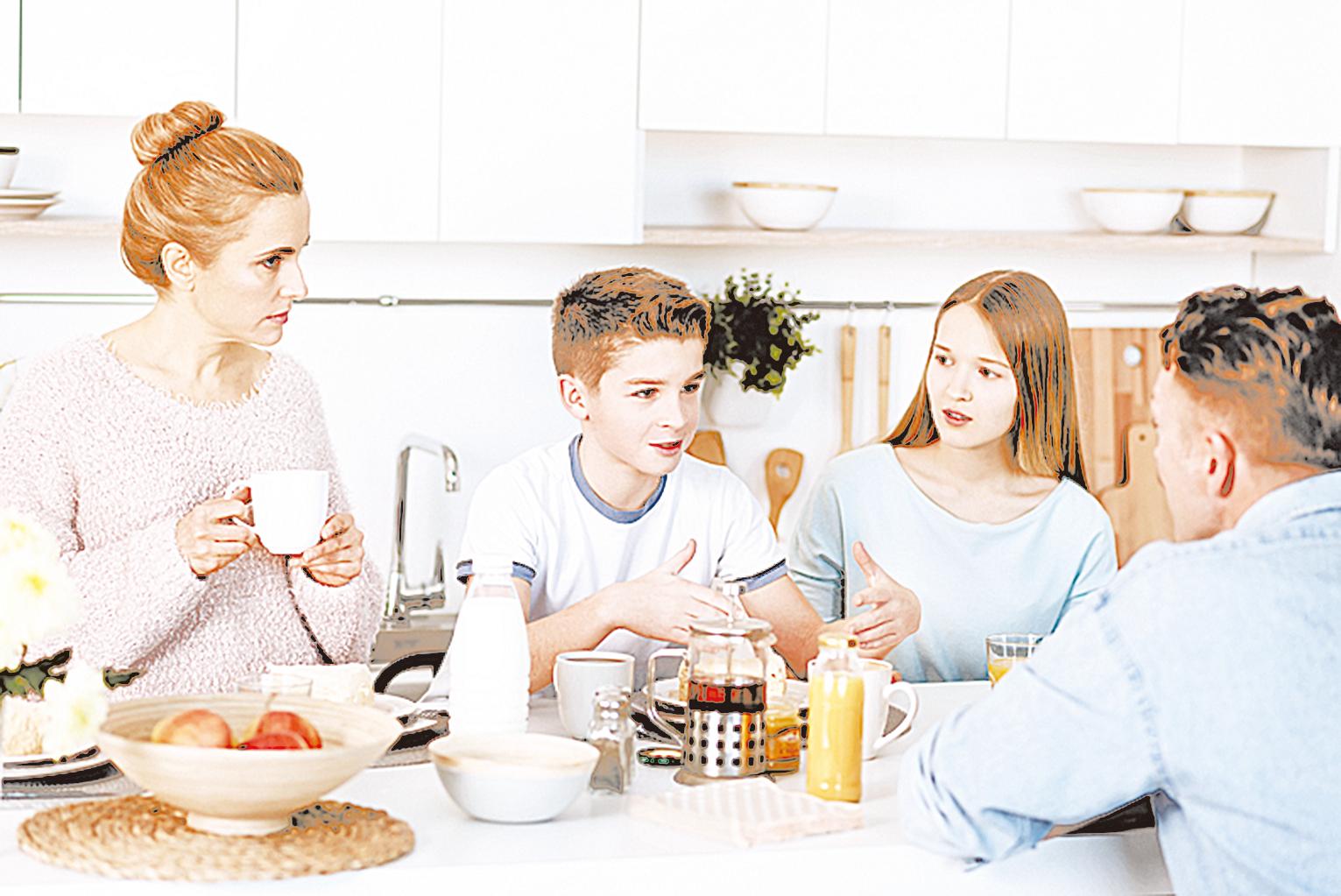 在定期一起用餐的家庭中長大的孩子更懂得分享、公平和尊重。
