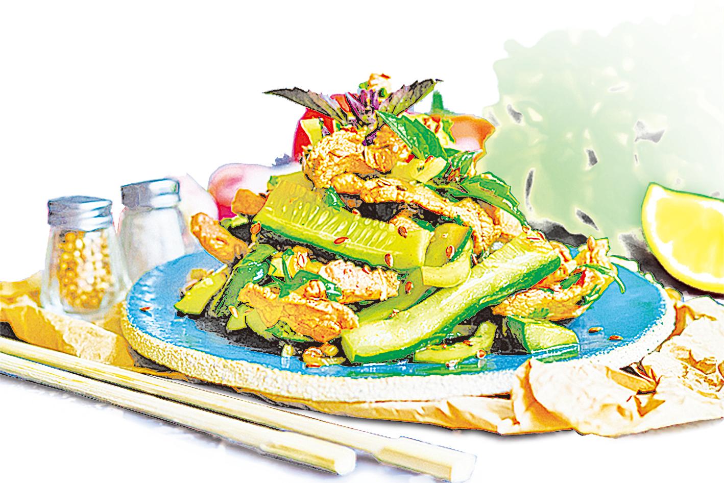 在家烹煮時可以增加菜餚中的蔬菜比例。