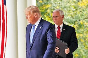 國會事件後 特朗普與彭斯首次會面