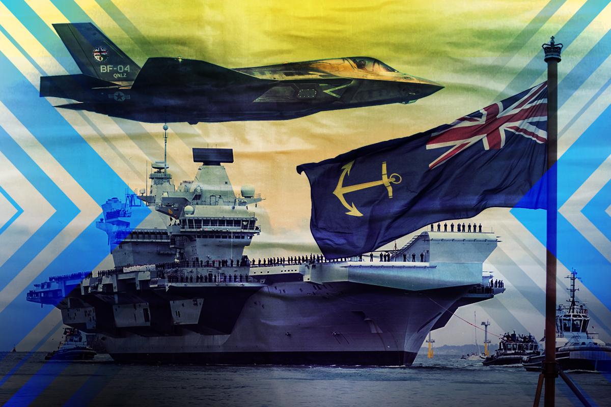 英國宣佈,有史以來最大航空母艦伊利沙伯女王號測試成功,構成最新打擊群,只需5天時間就可完成部署,包括南海在內的亞洲爭議海域將是未來主要部署區域。(大紀元製圖)