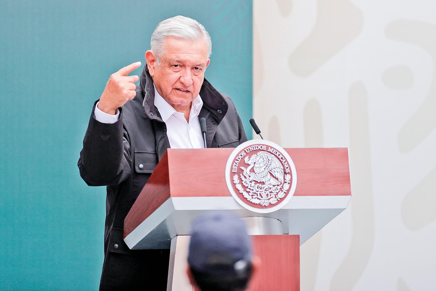 墨西哥總統奧布拉多對科技巨頭的禁言行動進行批評。(Getty Images)