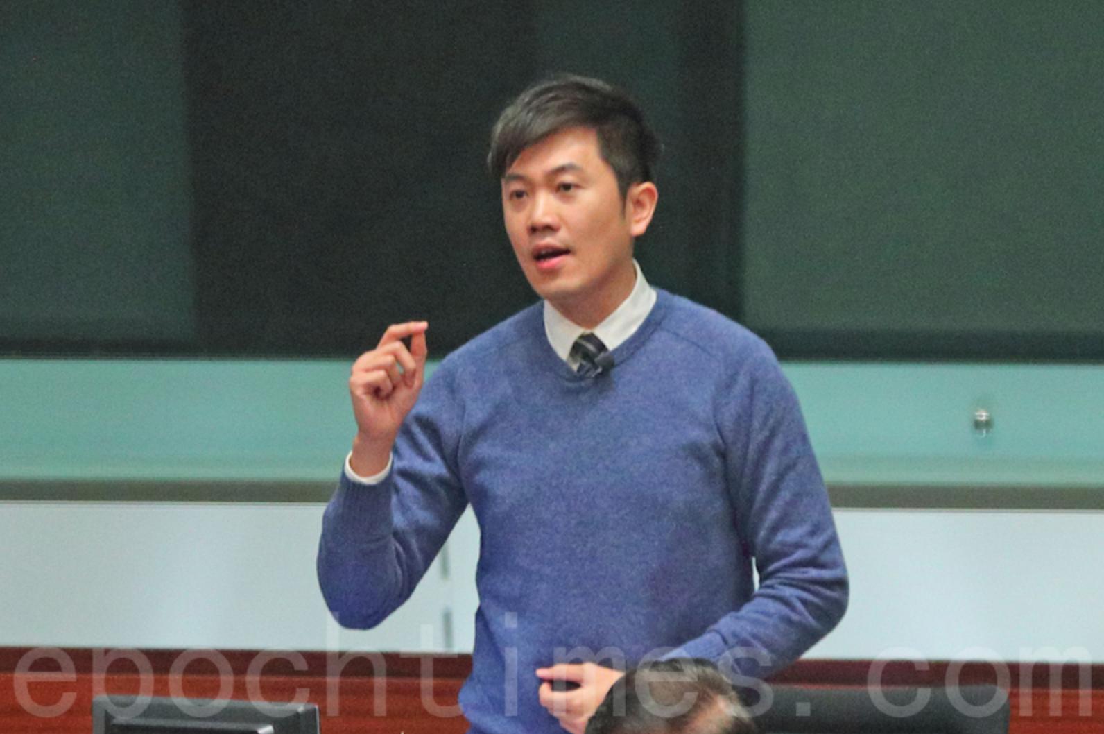 熱血公民主席、立法會議員鄭松泰。(大紀元資料圖片)