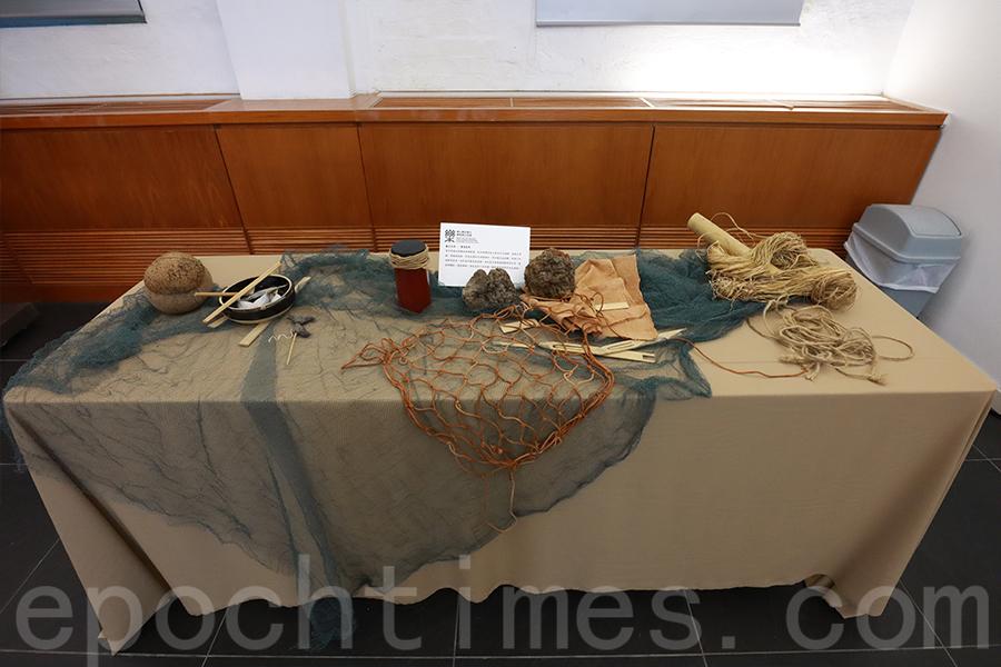展現漁民的結繩絞纜技能的展品。(陳仲明/大紀元)
