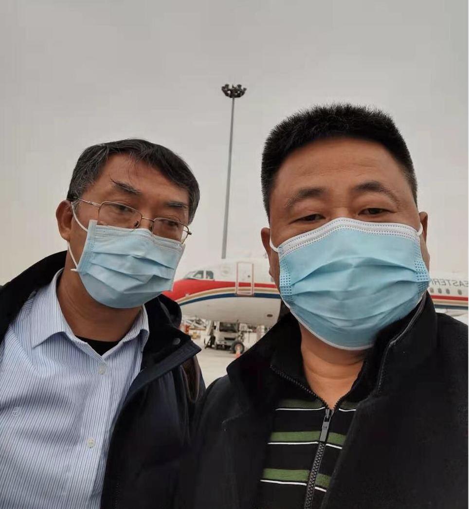 維權律師謝陽與陳科雲在西安準備坐地鐵前往寶雞探望常瑋平律師的父母(網路圖片)