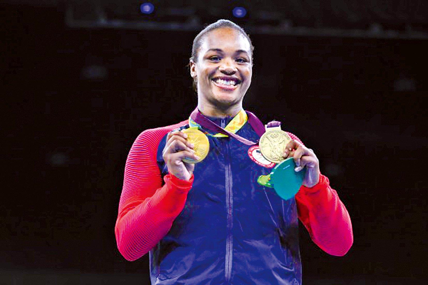 美國中量級女子拳擊選手席爾茲(圖)21日在里約奧運順利衛冕金牌後表示,希望能鼓舞全美各地被踐踏的一代年輕人。(Alex Livesey/Getty Images)