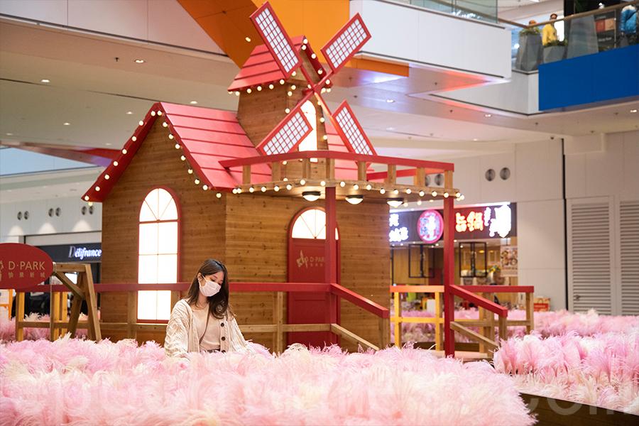 在香港亦可置身於粉色花海,夢幻粉紅芒草園愉景新城浪漫登場。(陳仲明/大紀元)
