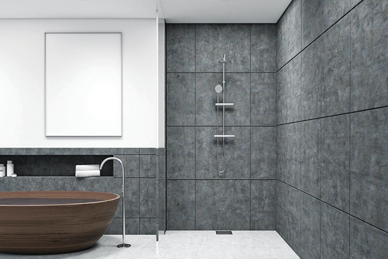 如果空間許可,浴室可以同時具有獨立式浴缸與半開放式淋浴間。