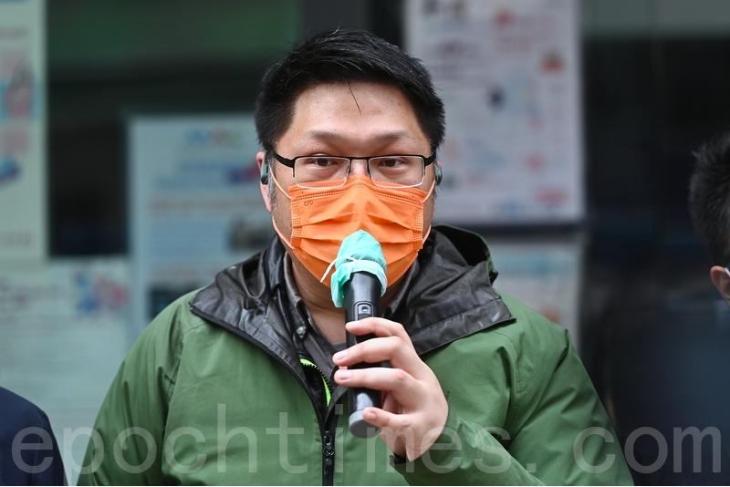 油尖旺區議員李偉峰表示,只靠多做檢測,如果其它配套措施不足也不能防止疫情爆發。(宋碧龍/大紀元)