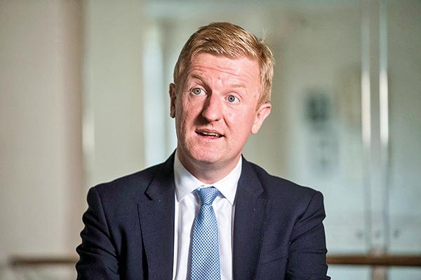 英國數字、文化、媒體和體育大臣杜永敦。(Oliver Dowden)