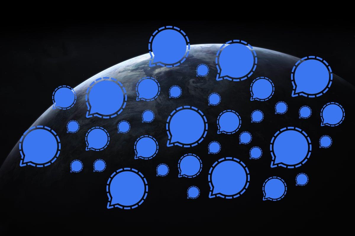 為何馬斯克一句話讓Signal下載暴增?Signal生物公司股票大漲!2021年大科技公司或面臨重新洗牌,您準備好迎接希望和挑戰了嗎?(大紀元製圖)