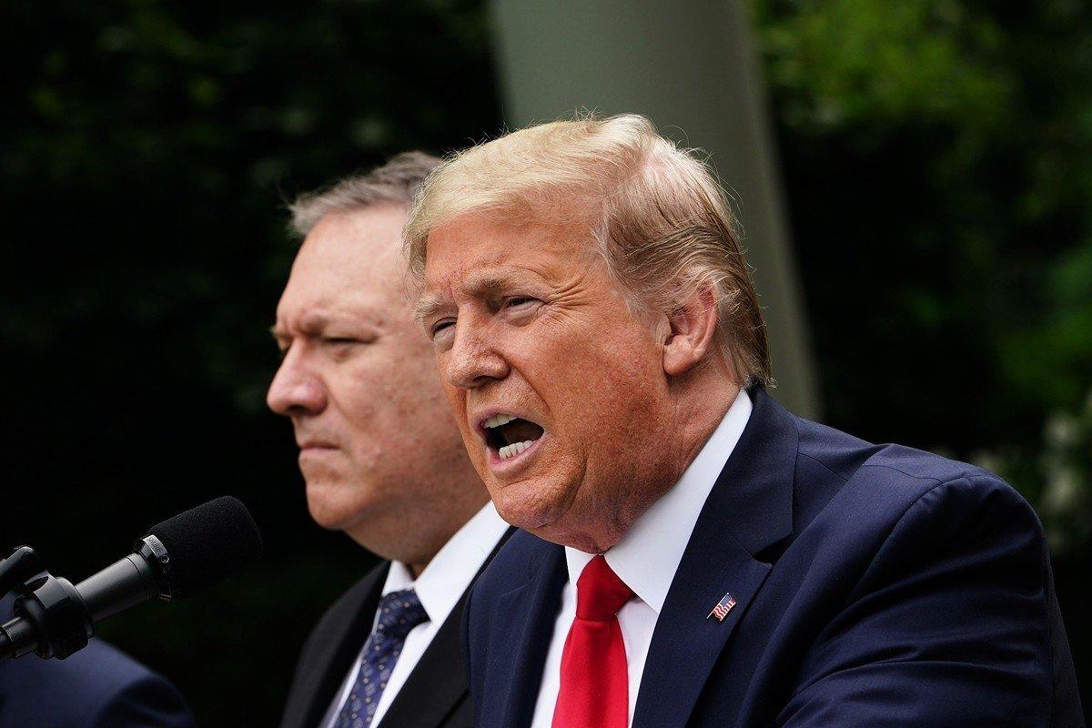 1月19日美國總統特朗普發表告別演說,強調自己的政績之一,是召集世界各國以前所未有的方式抗衡中共。同一日,蓬佩奧正式對外宣佈,中共在新疆犯下反人類罪。圖為特朗普總統正對外演說。(MANDEL NGAN/AFP)