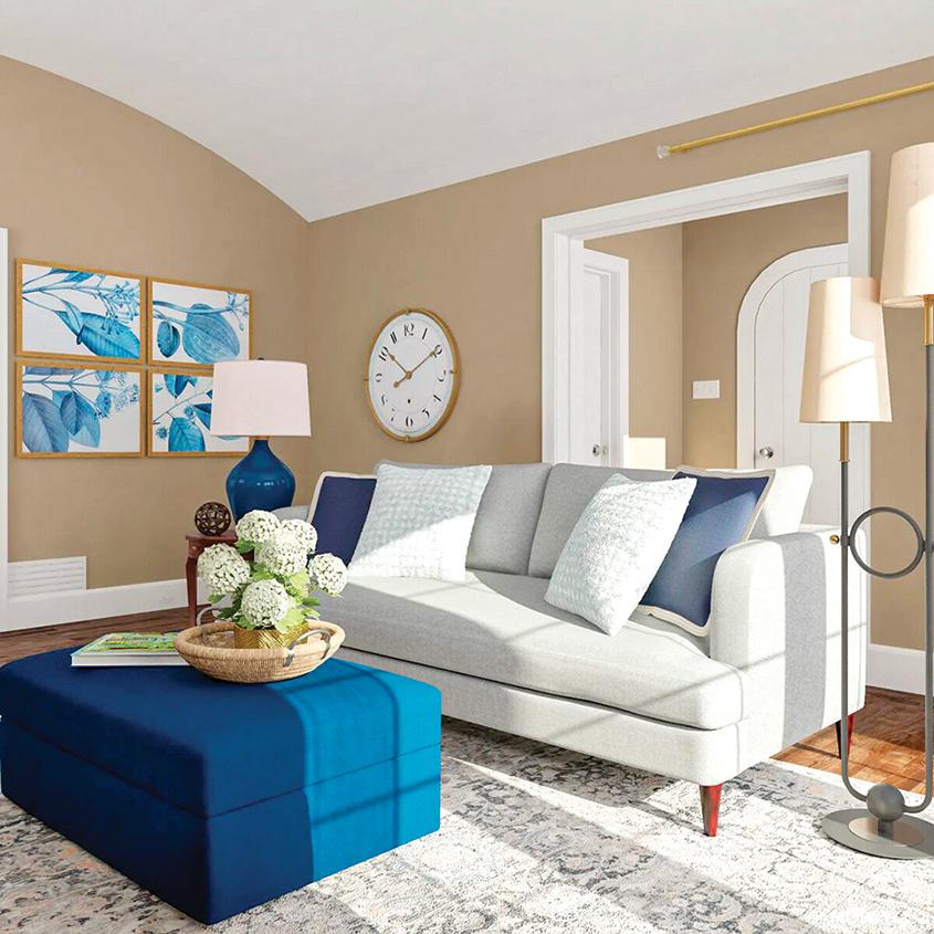 儲物箱可以作為客廳的桌子,起到雙重的作用。