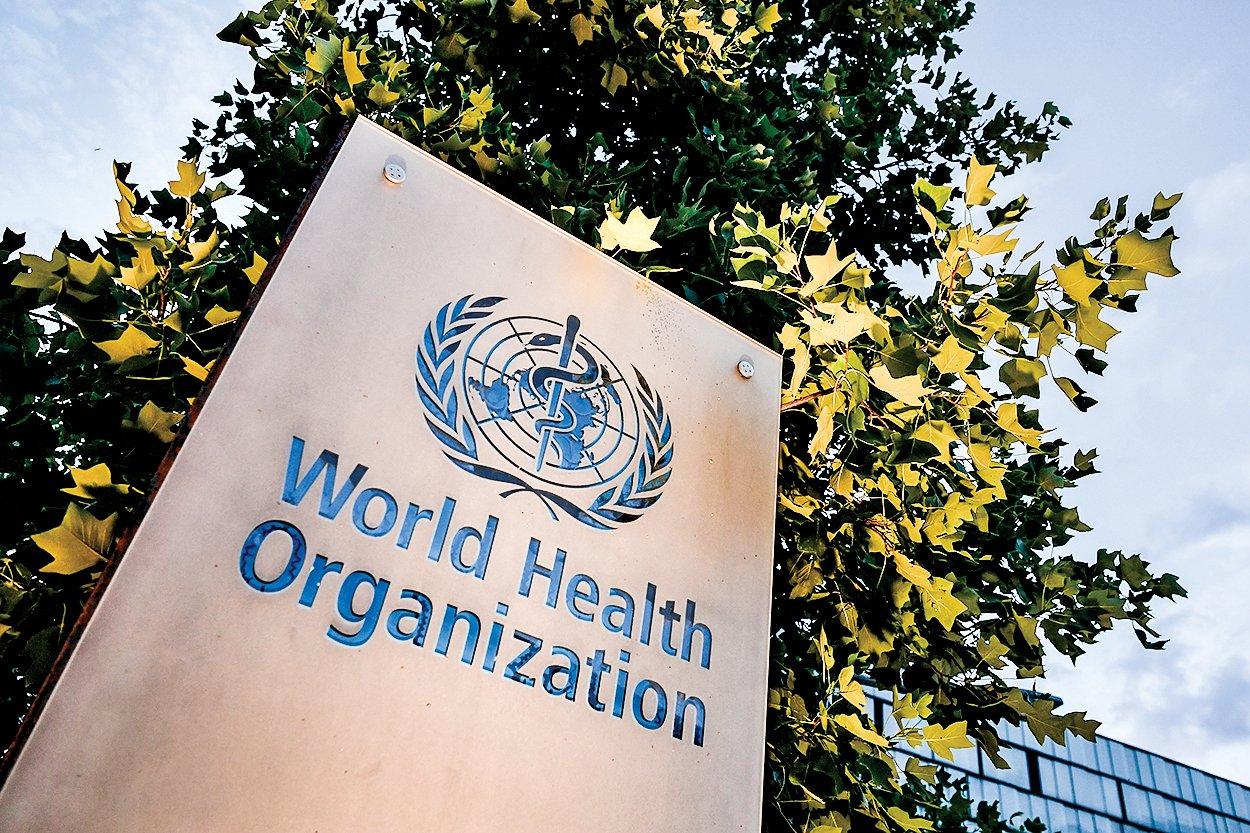 世界衛生組織的標誌。(Getty Images)