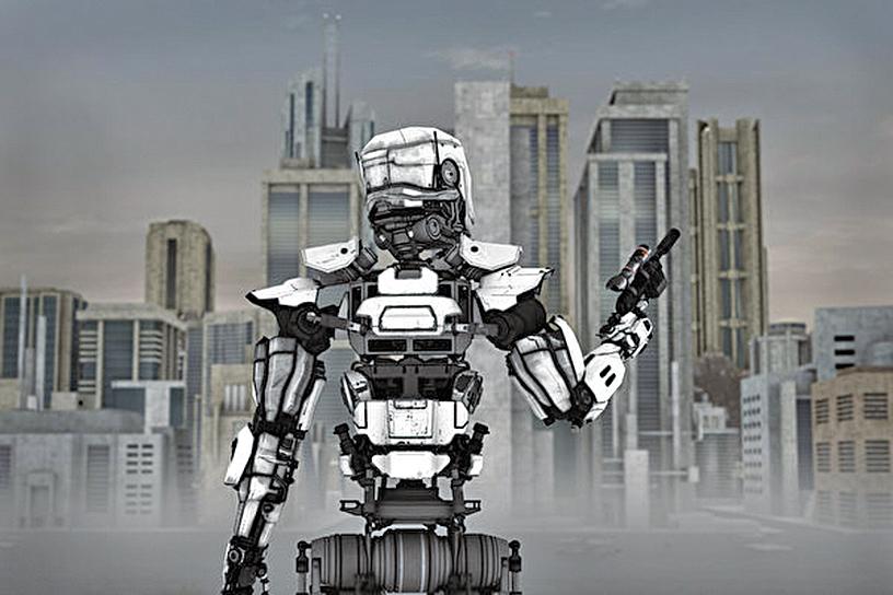 中共培育基因改造士兵,可能會在彌賽亞現身之前引發末世戰爭。未來機器人士兵示意圖。(Shutterstock)